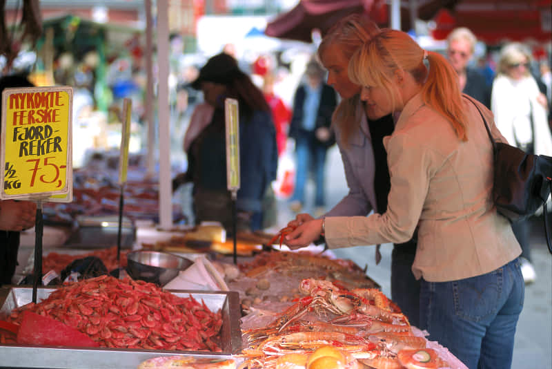 Fishmarket in Bergen, Norway. Photo; Visit Norway