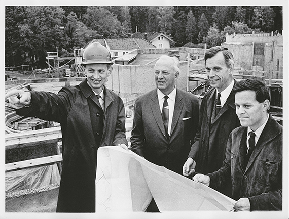 Jon Eikvar, Nile Onstad, Ole Henrik Moe and Svein-Erik Engebretsen in 1967