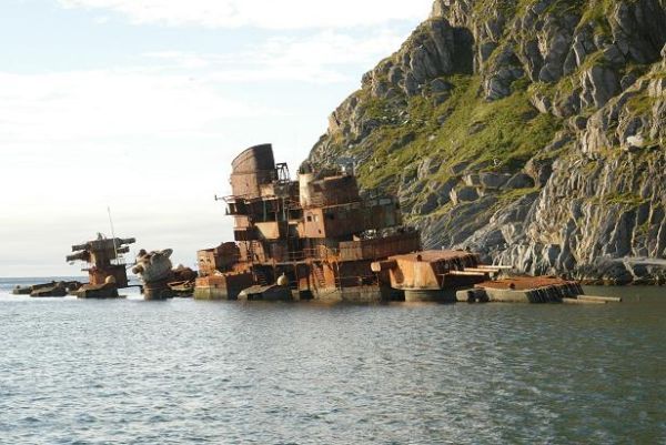 Wreck of battleship Murmansk