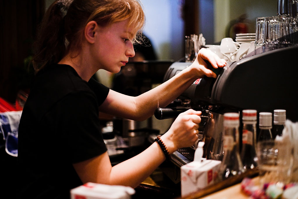 Espresso making in Scandinavia