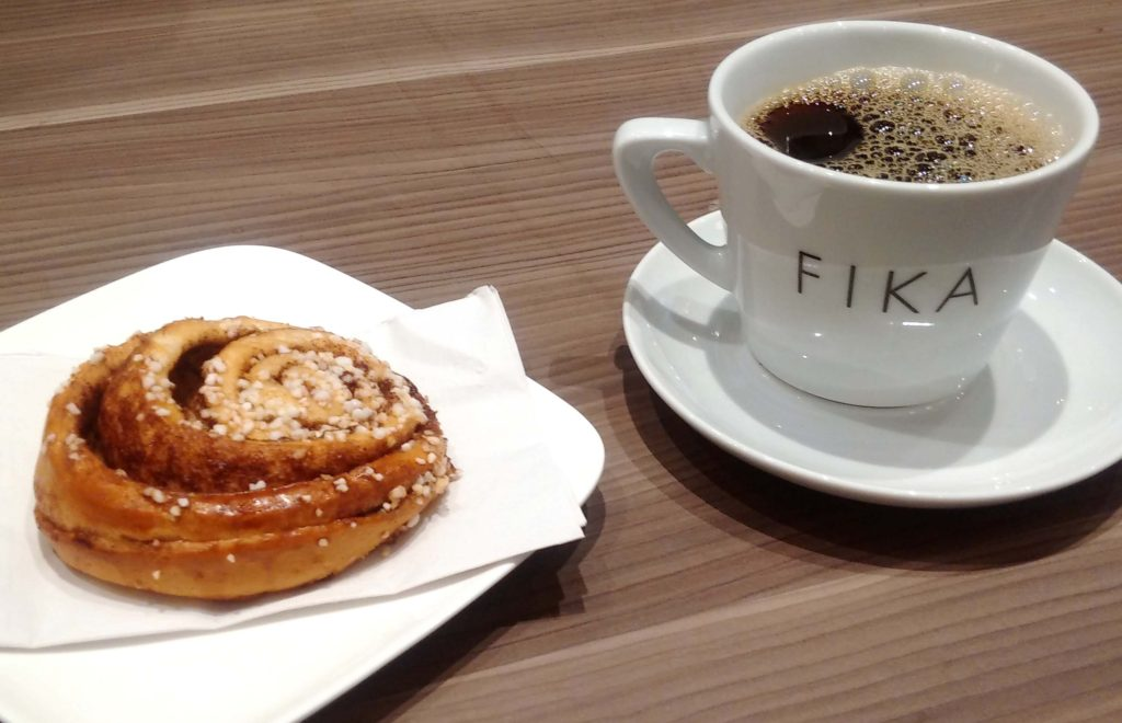 Fika: Coffee and cinammon bun