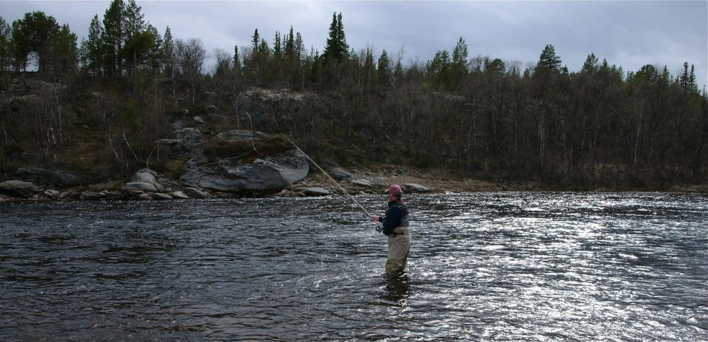 Salmon fishing in the Acha river